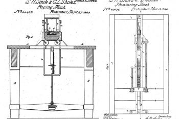 0a420dcbb12 Izquierda: patente estadounidense nº 44488 (paginador de libros). Derecha:  patente nº